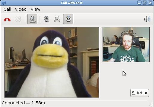 A call with tux